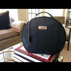 Lancôme Paris Black Round Zippered Travel Case